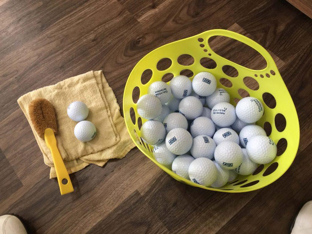 ボール磨き